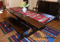 IMPERIAL MONTEREY DINING TABLE + BENCHES
