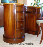 Sheraton Kidney Leather-Topped Desk