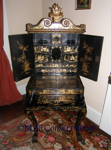 McLoughlin House Chinese Lacquer Sewing Cabinet