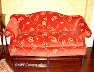 Chippendale Camelback Loveseat