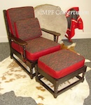 Mason Monterey Paddle-arm Chair + Ottoman